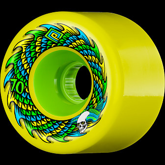 Powell Peralta Soft Slide Skateboard Wheel 70mm 75A 4pk Yellow