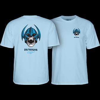 Powell Peralta Welinder Nordic Skull T-shirt - Powder Blue