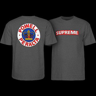 Powell Peralta Supreme Shirt Charcoal