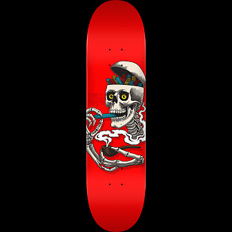 Powell Peralta Curb Skelly Skateboard Deck Red - Shape 248 - 8.25 x 31.95