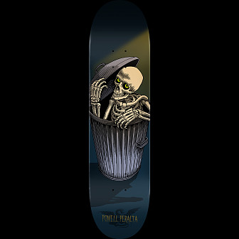Powell Peralta Garbage Can Skelly Skateboard Deck Blue - Shape 242 - 8 x 31.45
