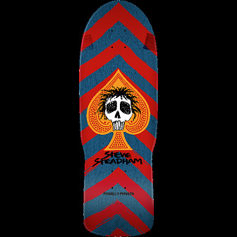 Powell Peralta Steadham Skull and Spade Skateboard Blem Deck Red/Blue - 10 x 30.125