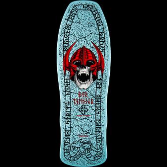 Powell Peralta Welinder Nordic Skull Skateboard Blem Deck Light Blue - 9.625 x 29.75
