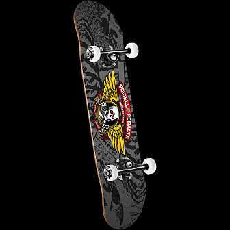 Powell Peralta Winged Ripper Skateboard Silver - 8 x 32.125