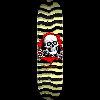 Powell Peralta Ripper Skateboard Deck Pastel Yellow 245 K21 - 8.75 x 32.95