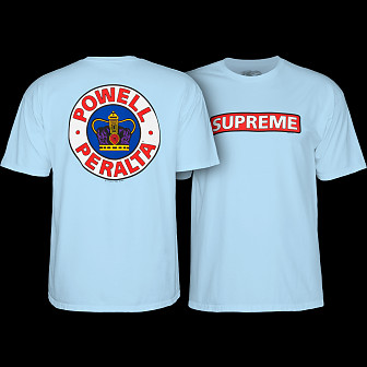Powell Peralta Supreme T-shirt Powder Blue