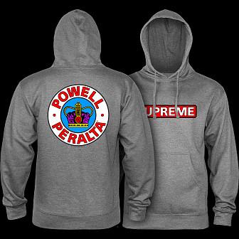 Powell Peralta Supreme Hoodie Gunmetal