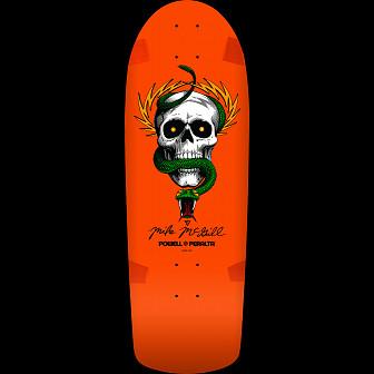 Powell Peralta McGill OG Skull and Snake Blem Skateboard deck Orange - 10 x 30.125