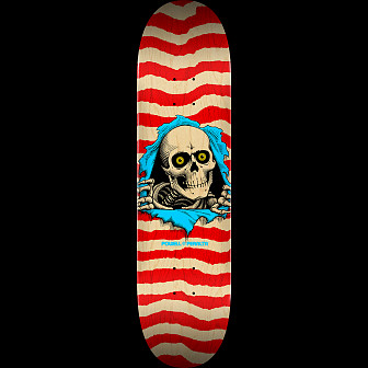 "Powell Peralta Ripper Skateboard Blem Deck Red 244 K20 - 8.5"" x 32"""