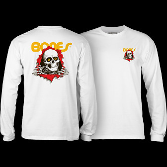 Powell Peralta Ripper YOUTH L/S T-shirt - White