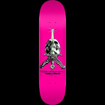 Powell Peralta Skull and Sword Skateboard Deck Pastel Pink 244 K20 - 8.5 x 32.08