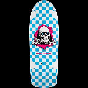 Powell Peralta OG Ripper Skateboard Deck Wht/Turq - 10 x 30