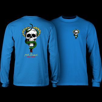 Powell Peralta Skull & Snake L/S Shirt Royal Blue