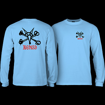 Powell Peralta Rat Bones YOUTH L/S - Carolina Blue