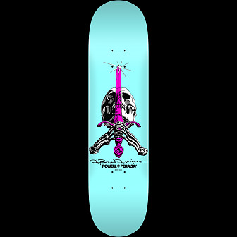 Powell Peralta Skull and Sword Skateboard Deck Pastel Blue 242 K20 - 8 x 31.45