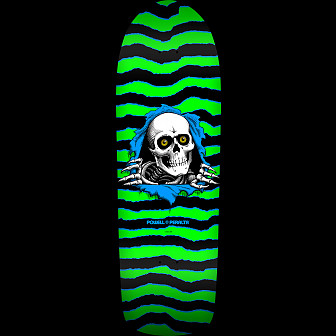 Powell Peralta Ripper Blem Skateboard Deck Green/Black - 10 x 31.75