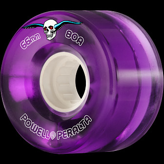 Powell Peralta Clear Cruiser Skateboard Wheel Purple 66mm 80A 4pk