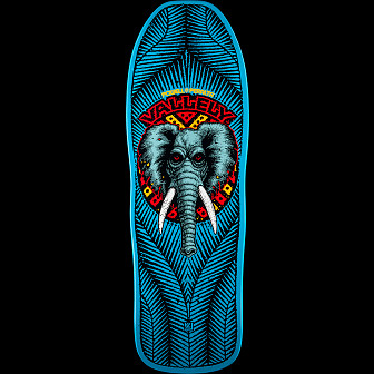 Powell Peralta Mike Vallely Elephant Blem Skateboard Deck Blue 163 SP3