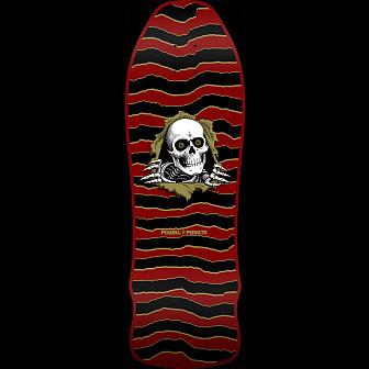 Powell Peralta GeeGah Ripper Maroon Blem Skateboard Deck  - 9.75 x 30