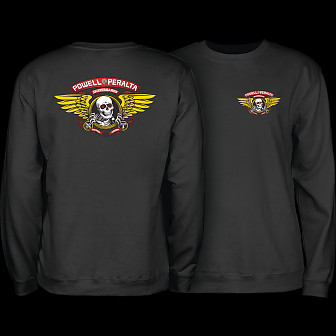 Powell Peralta Winged Ripper Midweight Crewneck Sweatshirt - Black