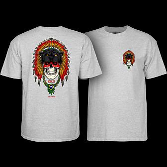 Powell Peralta Kelvin Hoefler Skull T-Shirt Athletic Heather