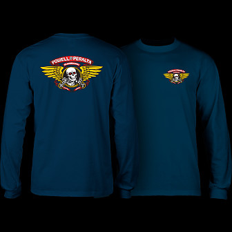 Powell Peralta Winged Ripper L/S Shirt Navy