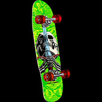Powell Peralta Mini Skull and Sword Green Complete Skateboard - 8.0 x 30
