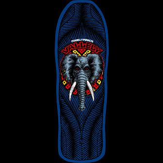 Powell Peralta Vallely Elephant  Skateboard Deck Blue - 30 x 9.85