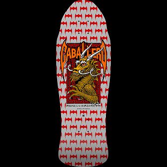 Powell Peralta Pro Steve Caballero Street Skateboard Deck SILVER - 9.625 x 29.75 - limited one per customer