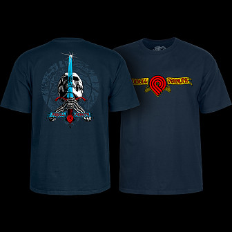 Powell Peralta Triple P Skull and Sword T-shirt Navy