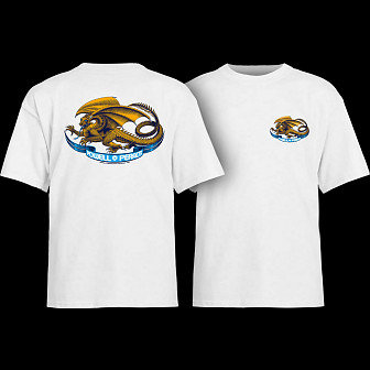Powell Peralta Oval Dragon YOUTH T-shirt - White