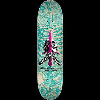 Powell Peralta Skull and Sword Skateboard Deck Turquoise 243 K20 - 8.25 x 31.95