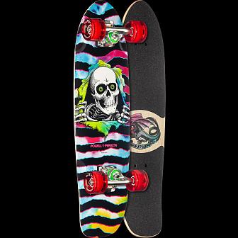 Powell Peralta Sidewalk Surfer Tie Dye Ripper Skateboard Cruiser Assembly - 7.75 x 27.20 WB 14.0