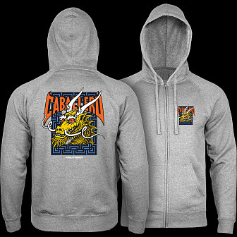 Powell Peralta Cab Street Hooded Zip Sweatshirt - Gunmetal Heather