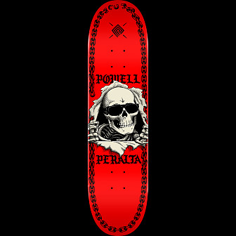 Powell Peralta Ripper Chainz Skateboard Blem Deck Red - 8 x 31.45