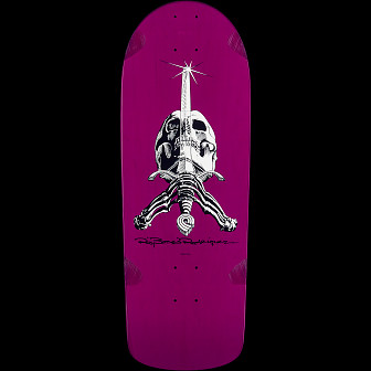 Powell Peralta Rodriguez Skull And Sword Blem Skateboard Deck Purple - 10 x 28.25