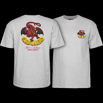 Powell Peralta Steve Caballero Dragon II T-shirt - Athletic Heather Gray