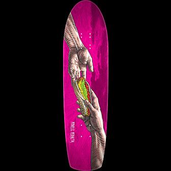Powell Peralta Funshape Hands 3 Skateboard Deck Magenta - 8.4 x 31.5