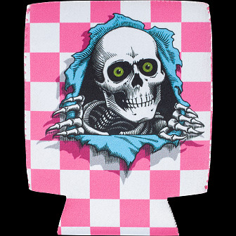 Powell Peralta Ripper Koozie Checker Pink