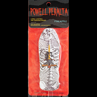 Powell Peralta Skull & Sword Air Freshener White - Pineapple Scent