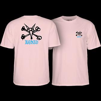 Powell Peralta Youth Rat Bones T-shirt Light Pink
