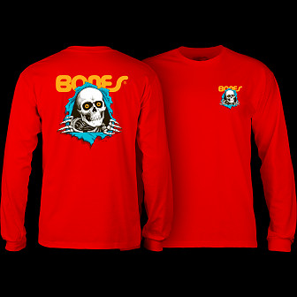 Powell Peralta Ripper L/S T-shirt -Red