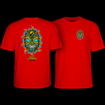 Powell Peralta Nicky Guerrero Mask T-Shirt Red