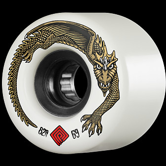 Powell Peralta DragonSkin Skateboard Wheel 69mm 82A White 4 pk.