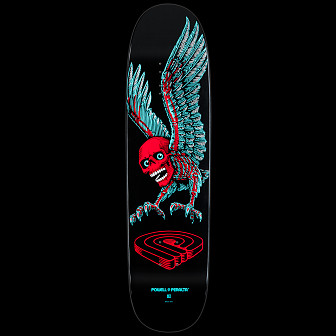 Powell Peralta Skateboard Deck Funshape Winged Skull - 8.2 x 31.5