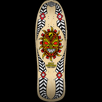 Powell Peralta Guerrero Mask Skateboard Blem Deck Natural - 10 x 31.75