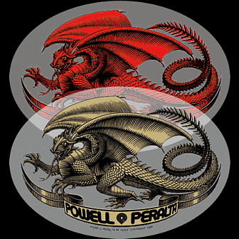 Powell Peralta Oval Dragon Sticker (10 Pack)