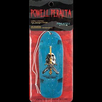 Powell Peralra Skull and Sword Pineapple Air Freshner