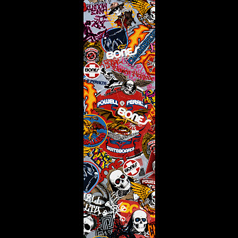 Powell Peralta Grip Tape Sheet 9 x 33 OG Stickers (White)