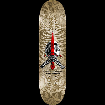 Powell Peralta Skull & Sword Blem Skateboard Deck Gray/natural 246 - 9 x 32.95